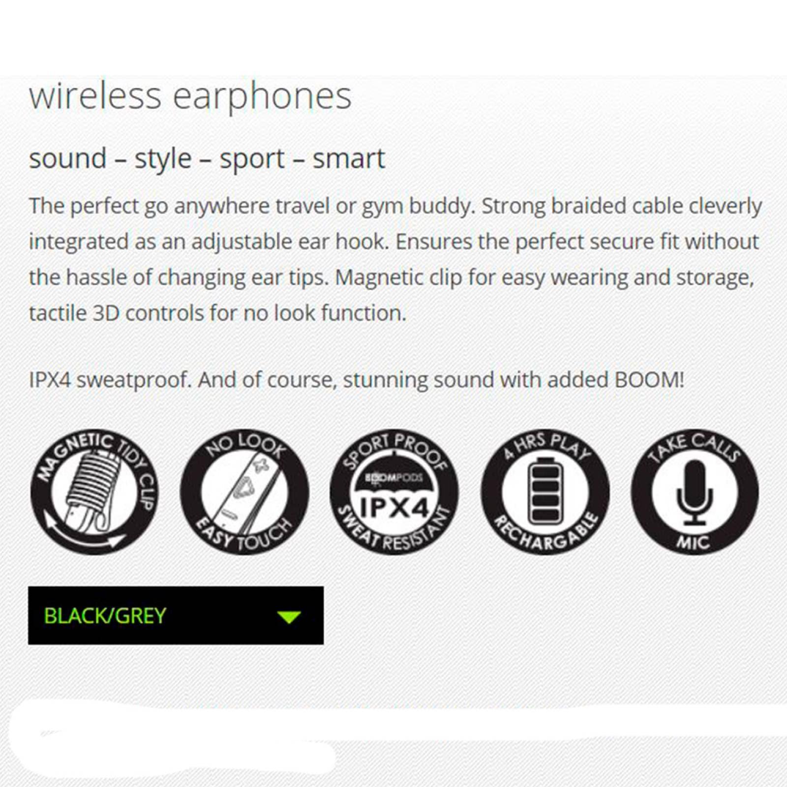 Audífonos Bluetooth Deportivos IPX4 Naranjas Retrobuds