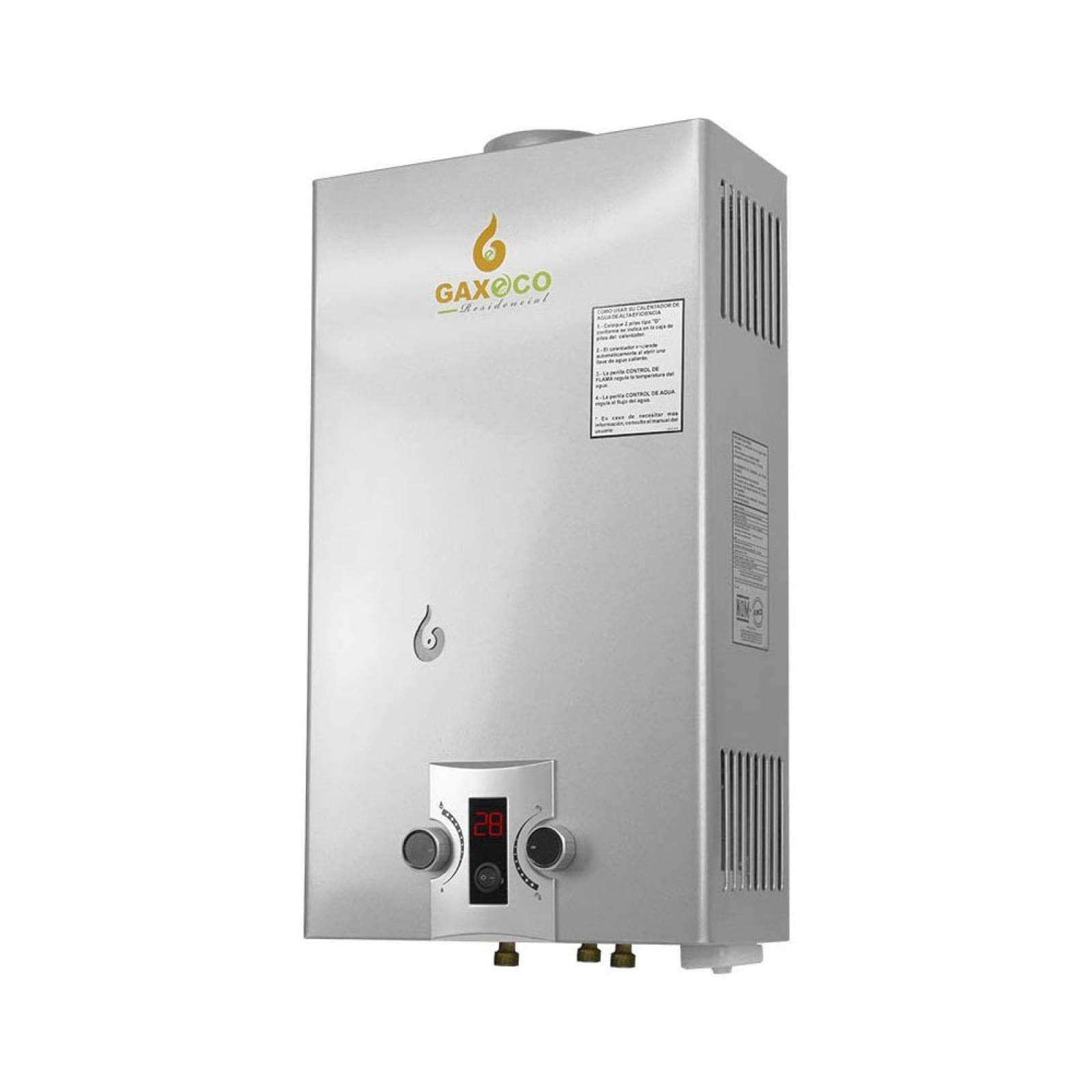 Boiler Paso Calentador Gas LP 2 servicios ECO12000 Gaxeco
