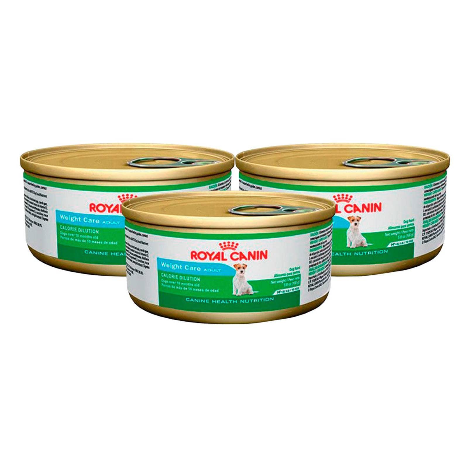 Kit Alimento Perro Adulto Cuidado Peso 3 Latas Royal Canin