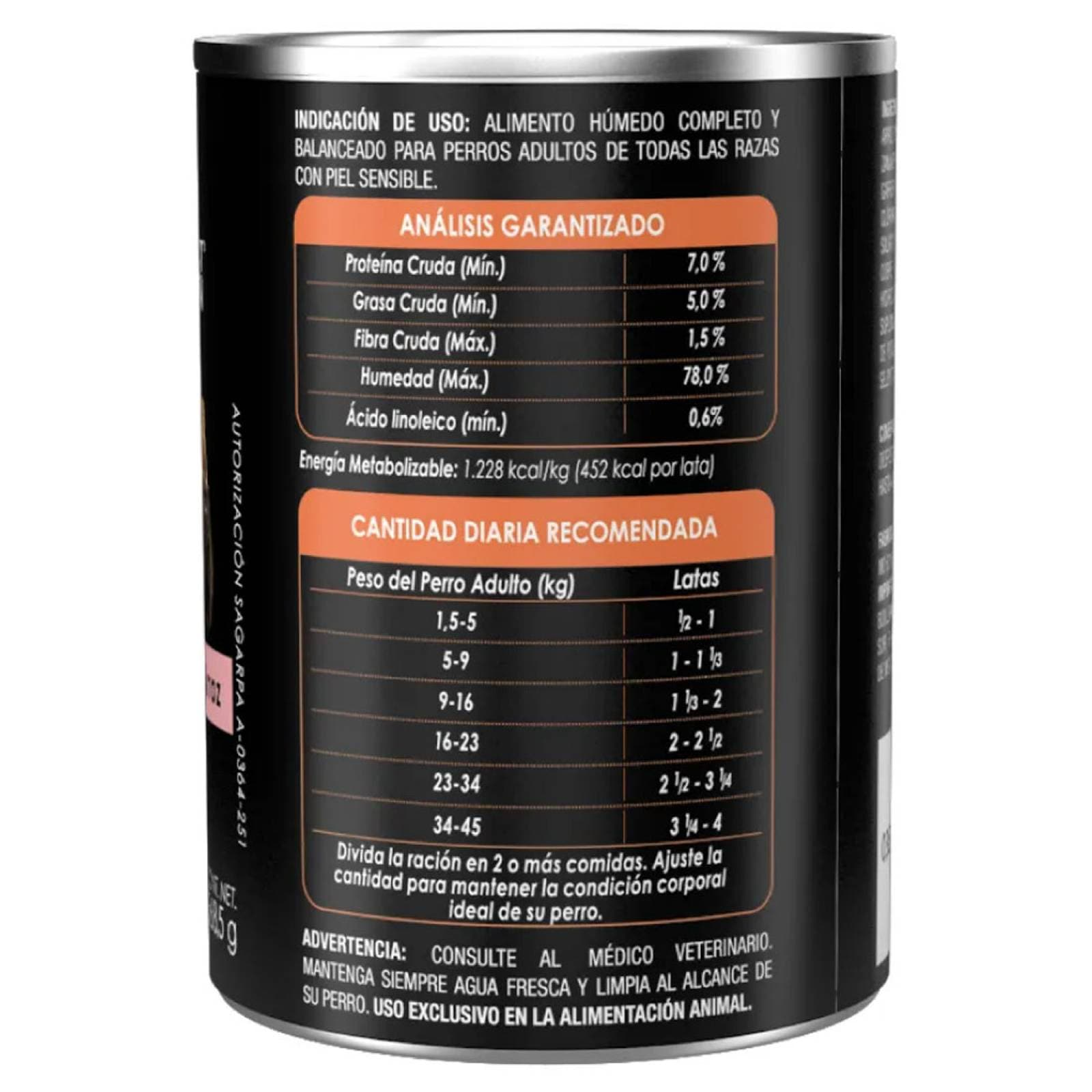 Alimento Perro Adulto Sensitive Skin Lata 368.5 g Pro Plan