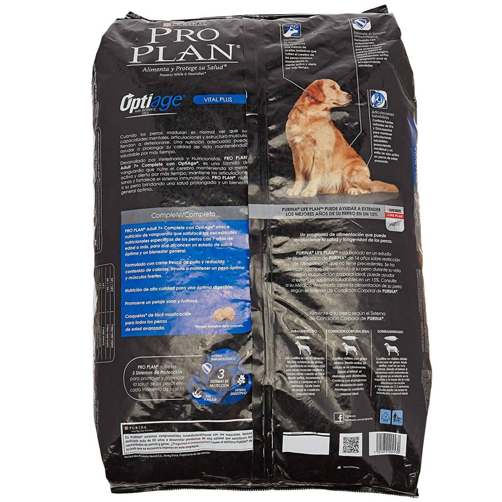 Alimento Perro Adulto 7+ Optiage Complete 15 Kg Pro Plan