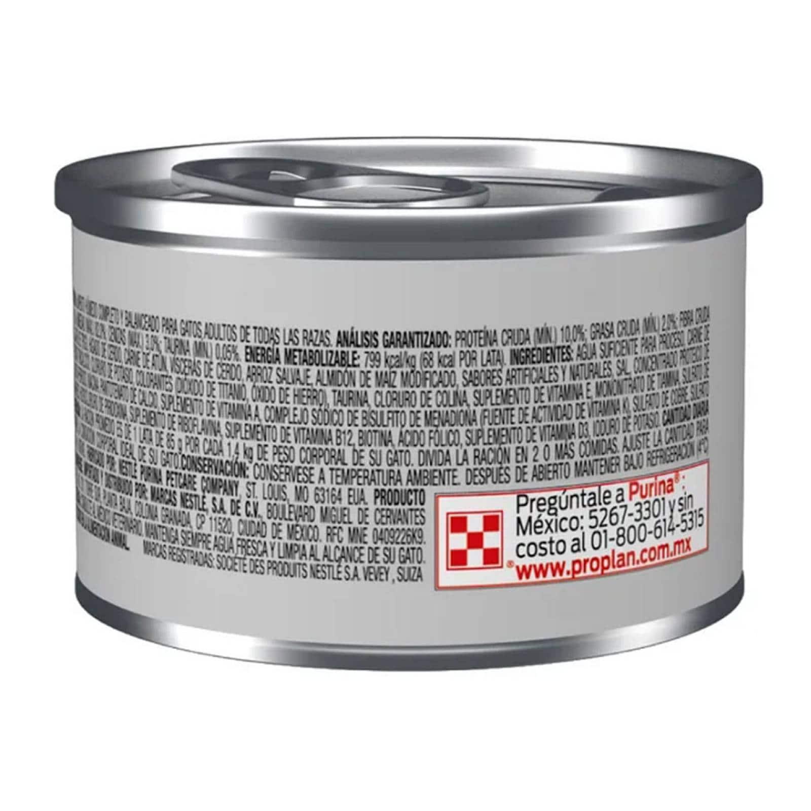 Alimento Para Gato Adulto Alta Calidad Lata 85 g Pro Plan