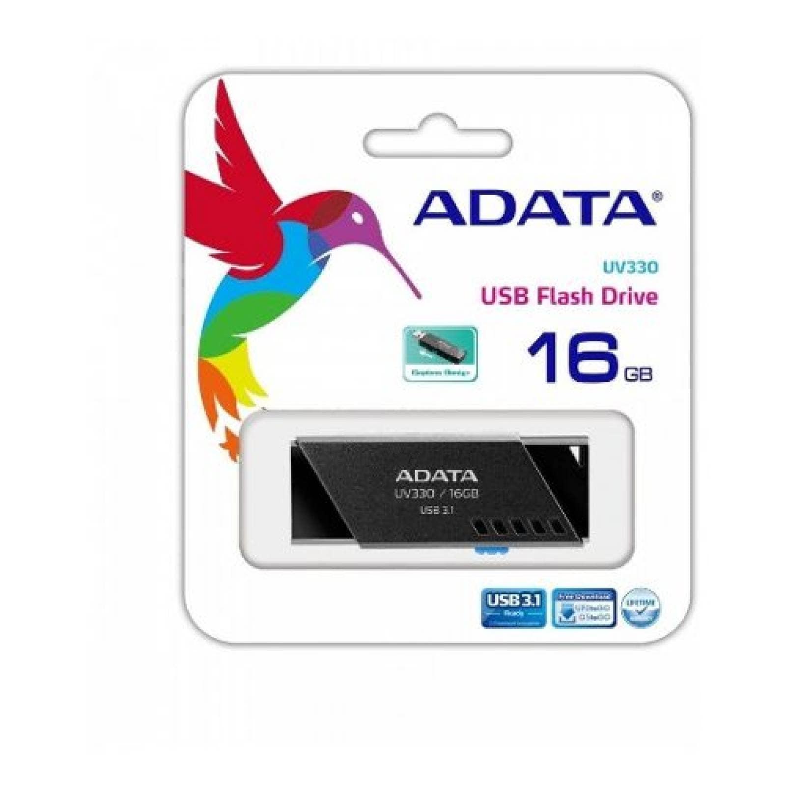 Memoria USB 3.1 Adata UV330 16GB Negro Unidad Flash
