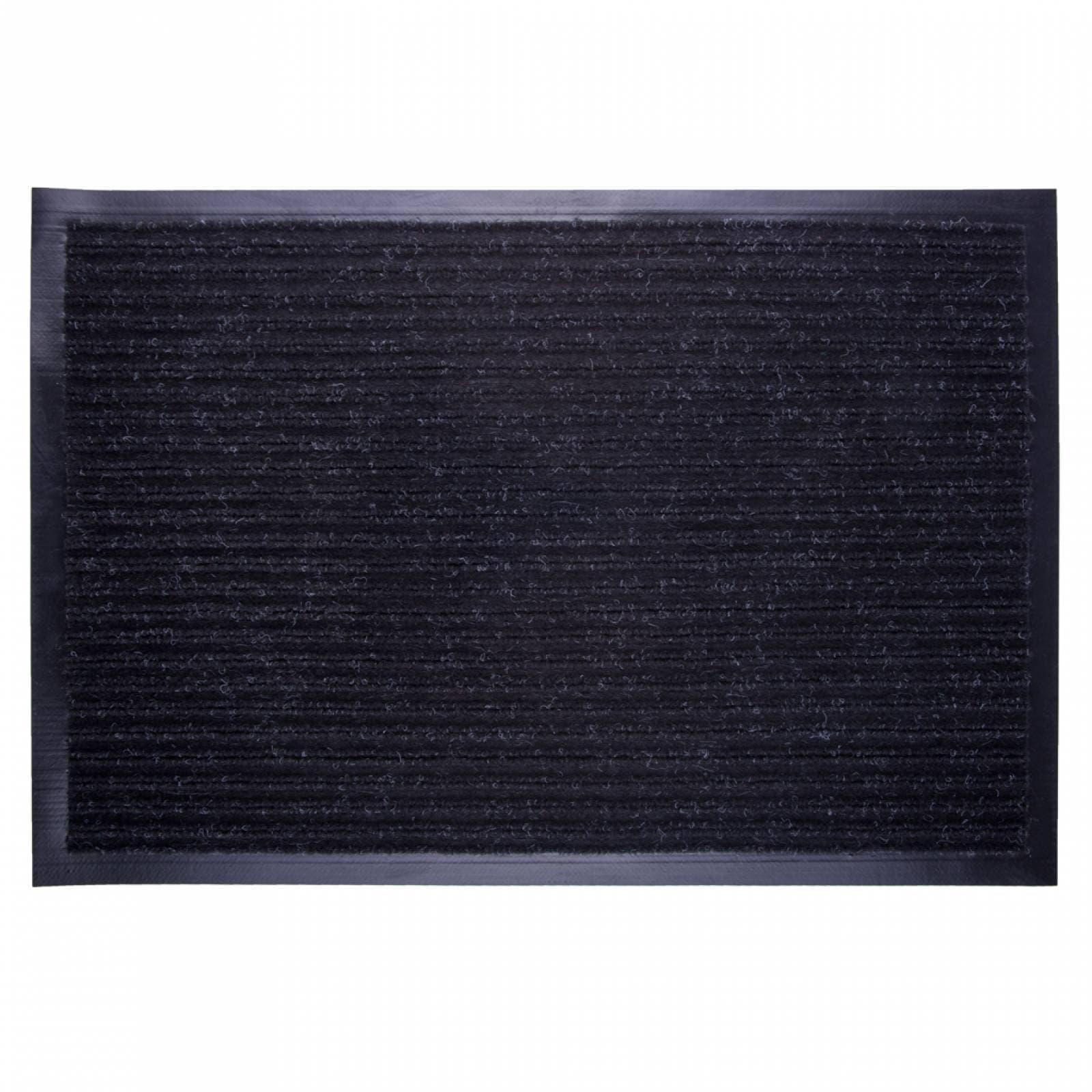 Tapete Si-Karai Duradero Antiderrapante Rayas 120x180c Negro