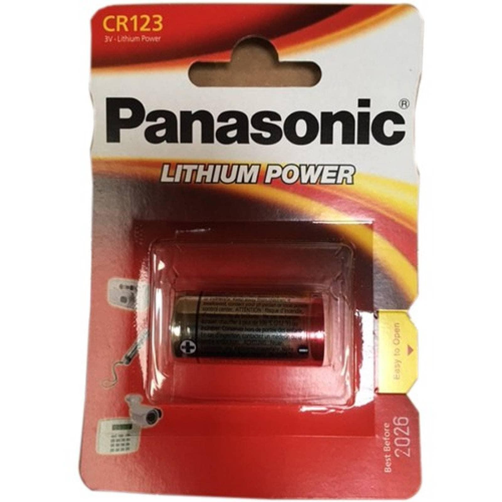 Batería litio 3VPanasonicCR123A