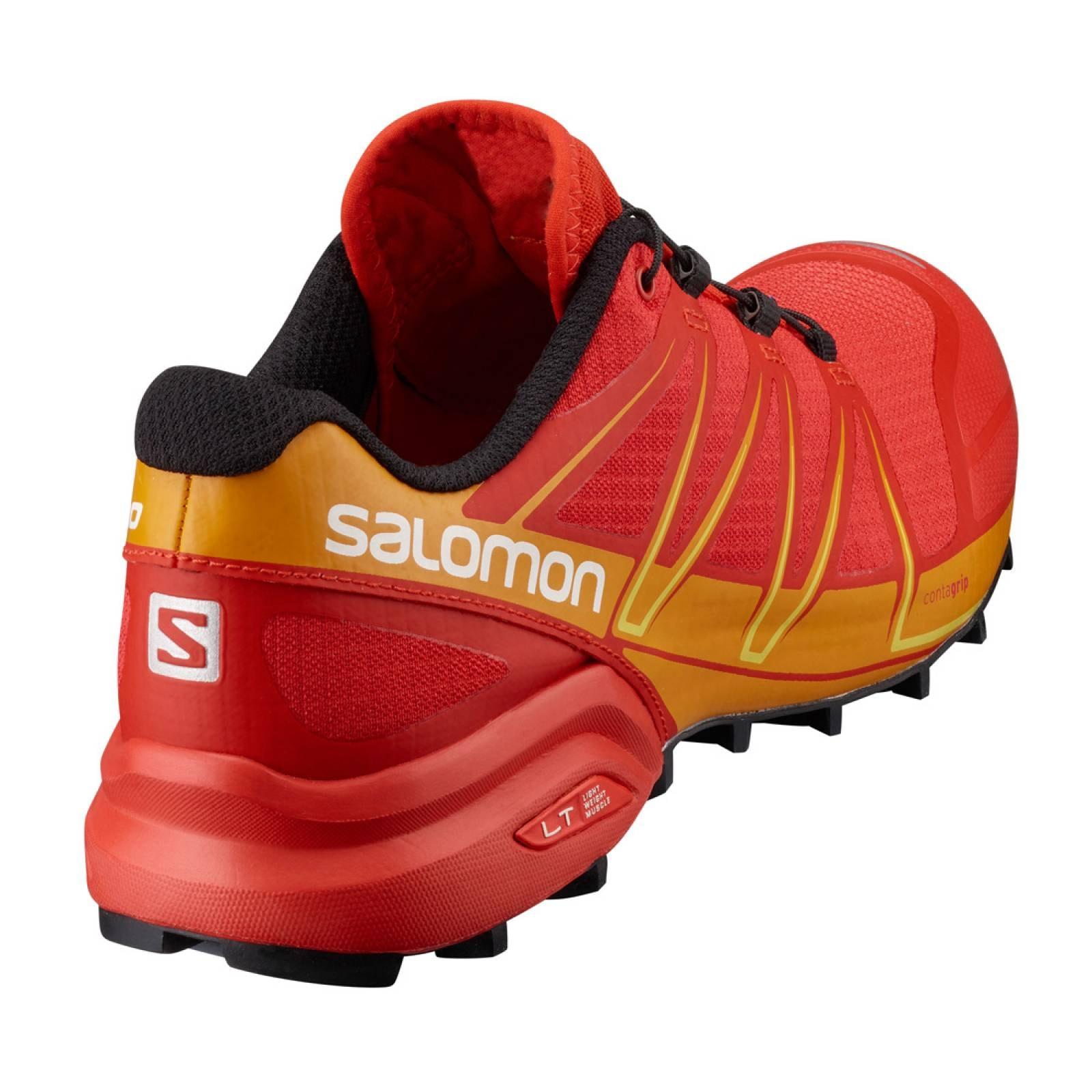 Tenis Hombre Salomon Trail Running Speedcross Pro Rojo