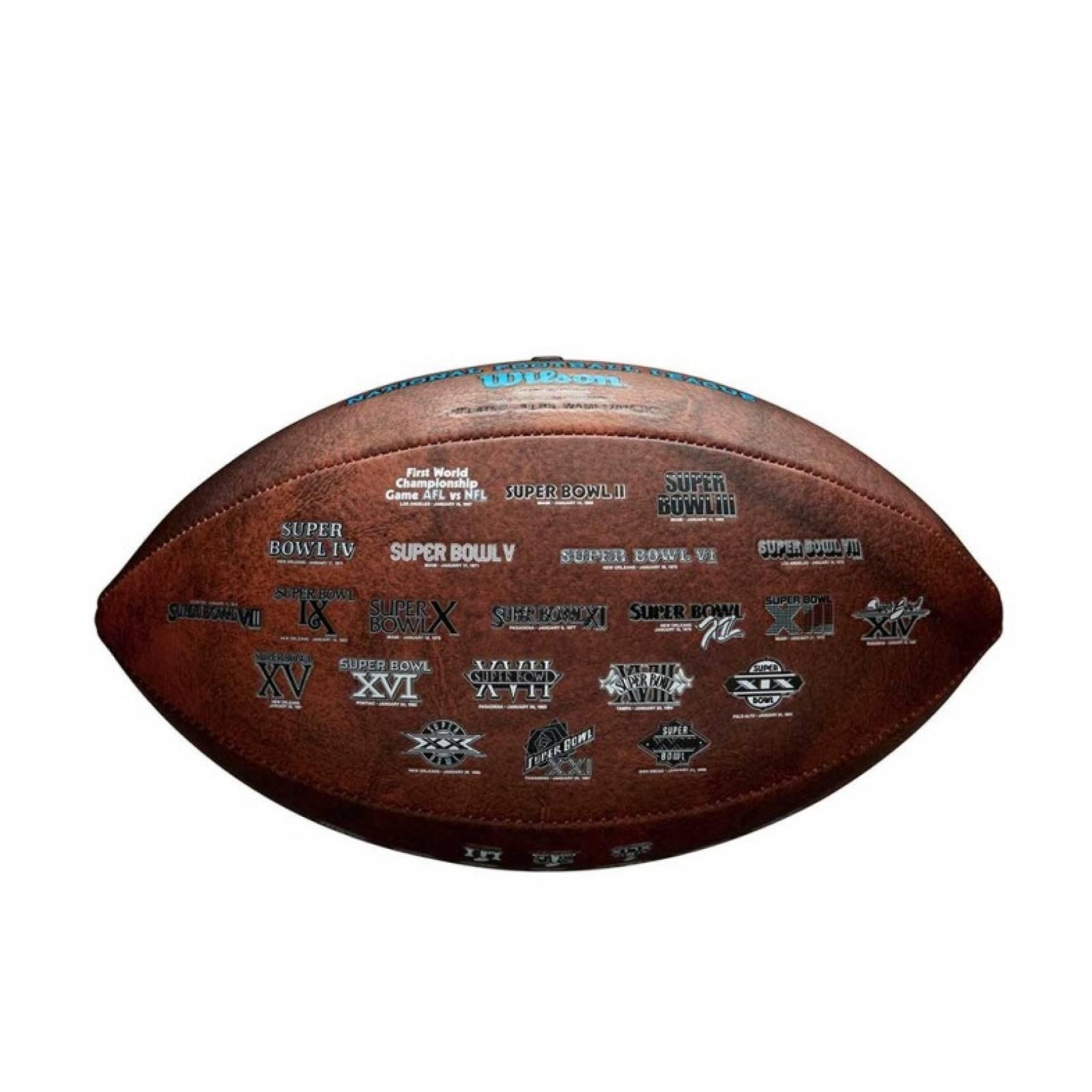Balon Americano Conmemorativo Super Bowl 52 Piel Wilson