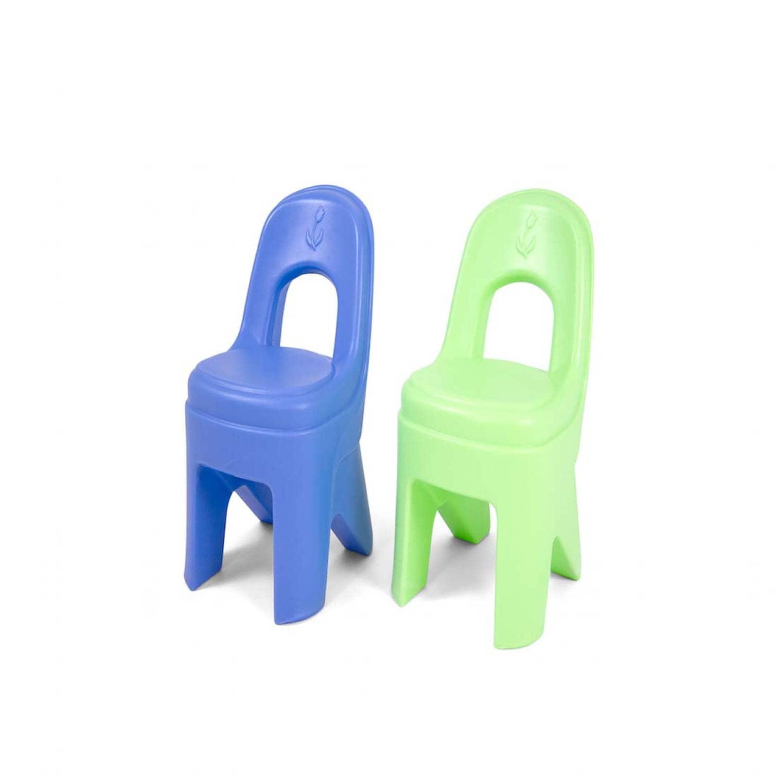 Paquete De 2 Coloridas Sillas De Juego Para Niños Simplay3