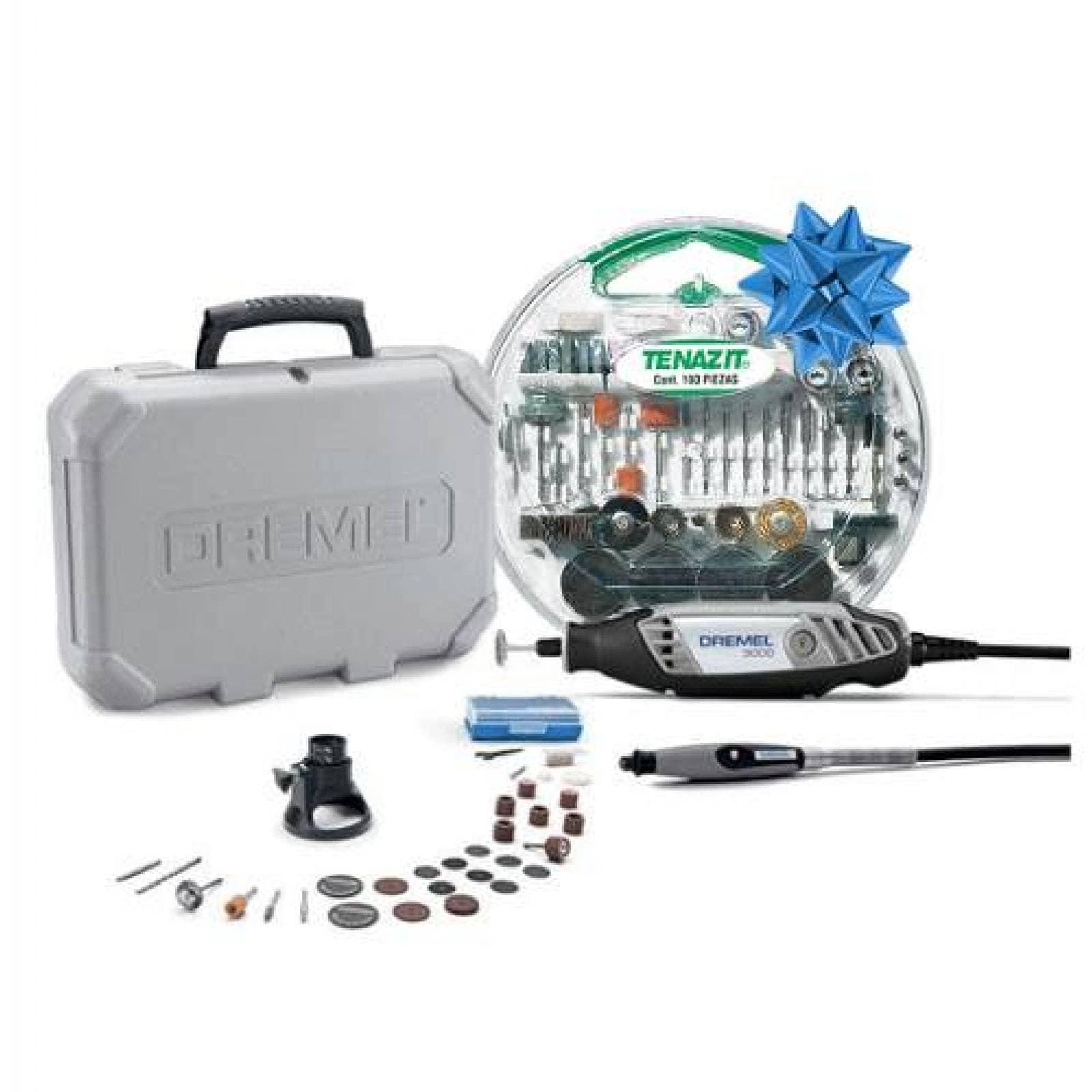 Kit Mototool Dremel 3000 + Kit B&d Accesorios 180 pz Dremel