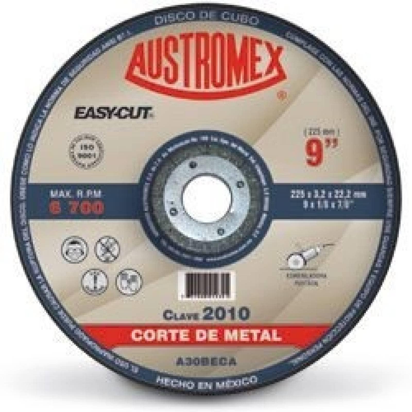 "Disco Centro Deprimido Corte Metal 9"" Austromex 2010"