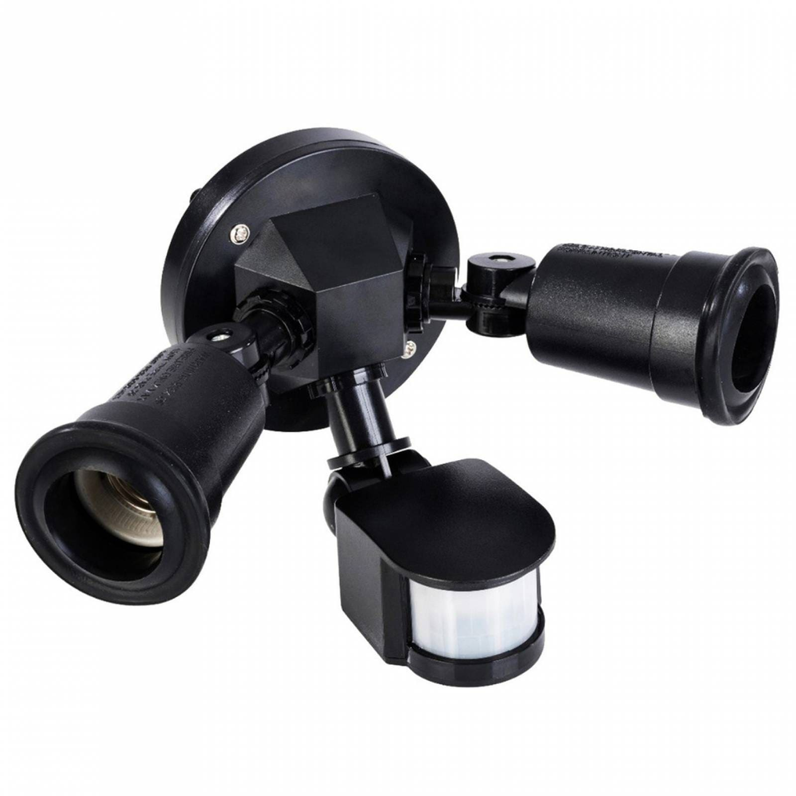 Porta Lámparas Doble Mitzu Sensor Movimiento 12mts 10-4002