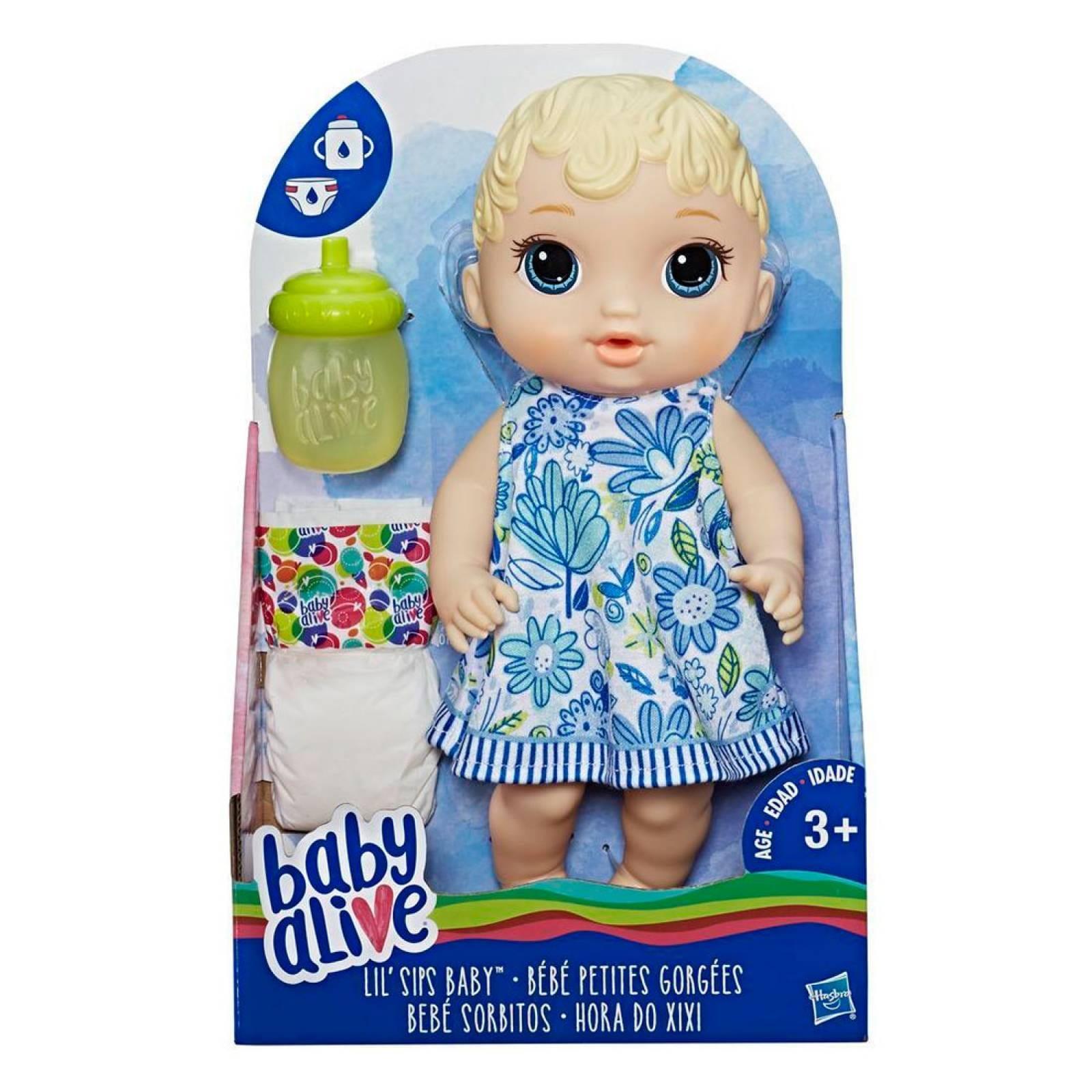 Muñeca Baby Alive Bebé Rubia Sorbitos Biberón Hasbro