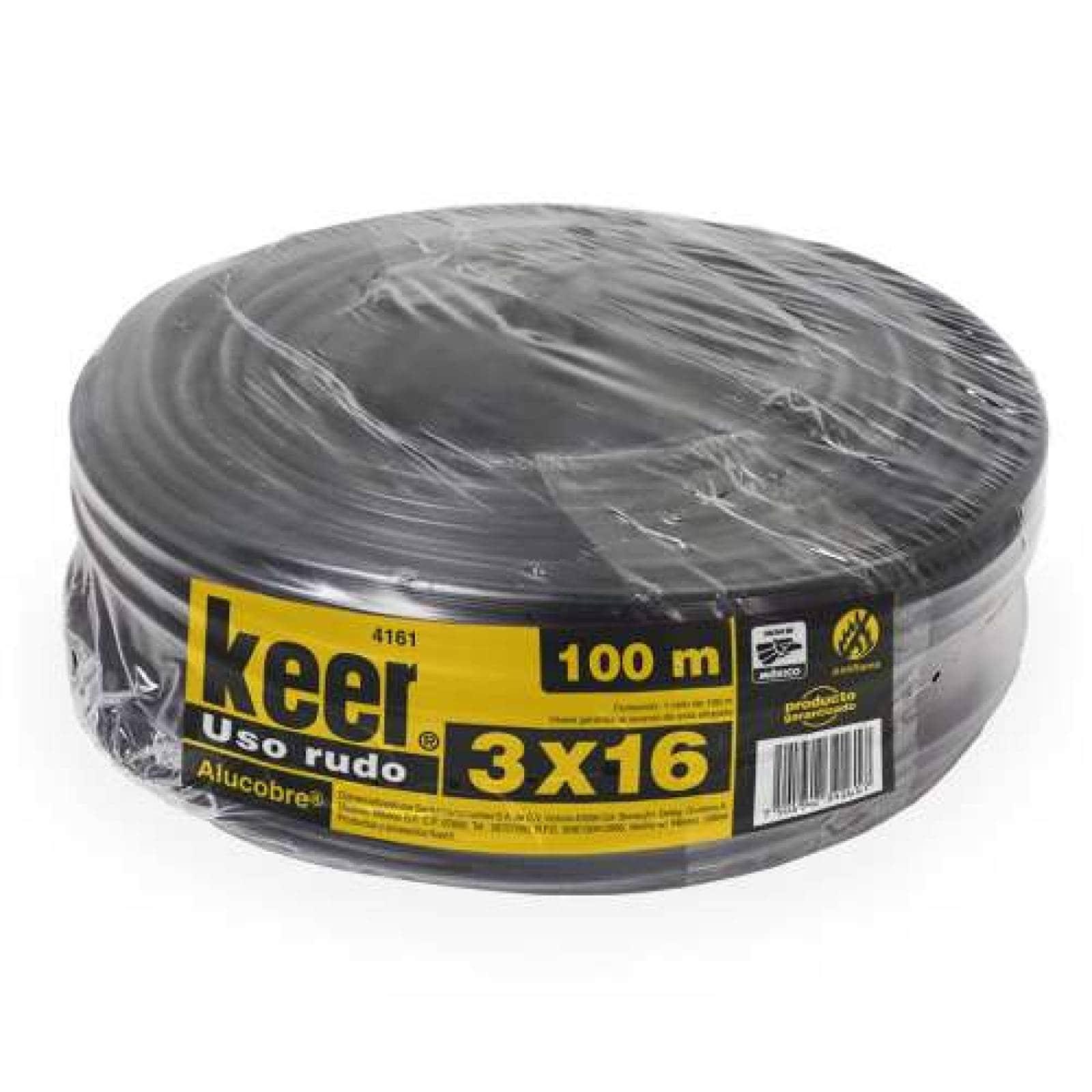 Cable de uso rudo 3x16 rollo100 mts Negro Sanelec