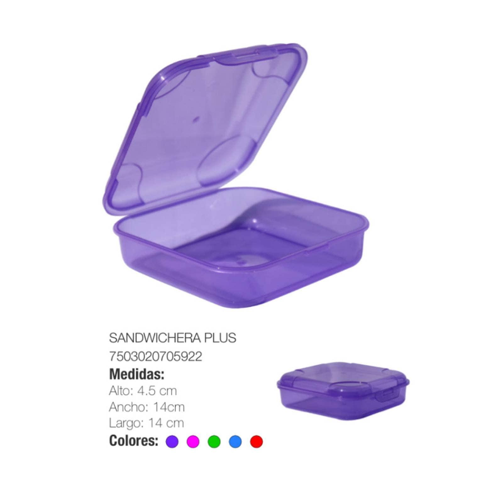 Sandwichera Porta emparedado Plus Plástico Torosqui Assorted