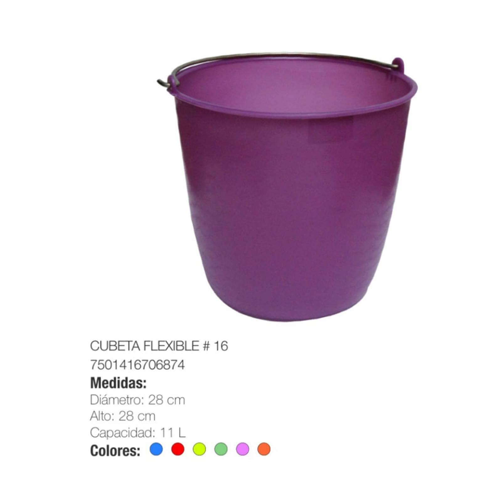 Cubeta Flexible N° 16 Plástico Limpieza Torosqui Assorted