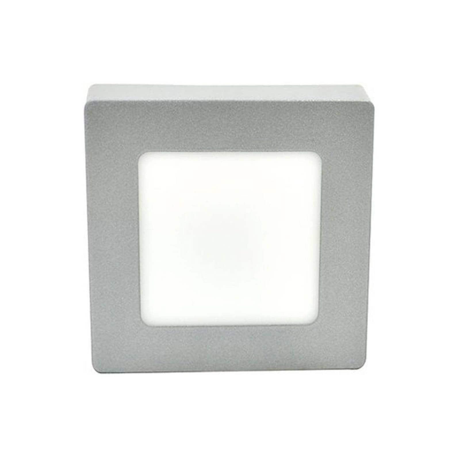 Tapa Luminario Cuadrada Sobreponer Blanco Ad-5464 6W Adir
