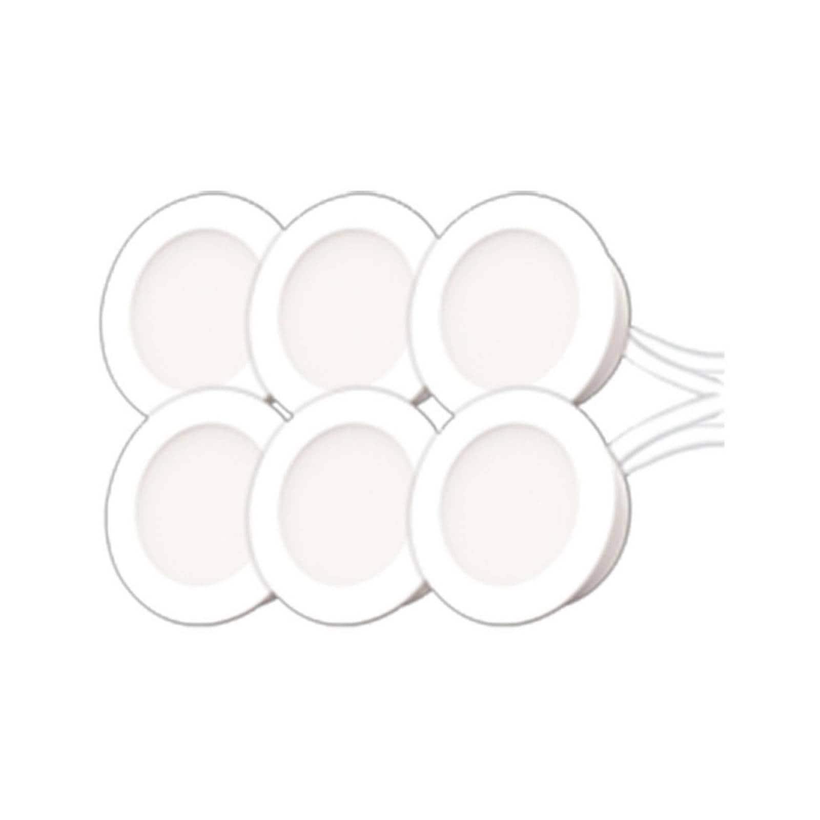 Kit 6 pzas Empotrado Piso Blanco Ad-5493 Adir