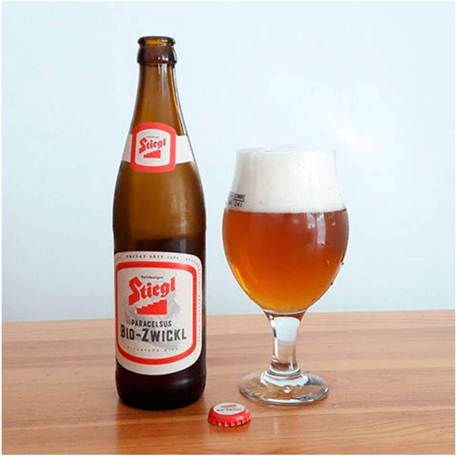 Cerveza Importada 20 Pzs 500 ml Stiegl Paracelsus Bio-Zwickl