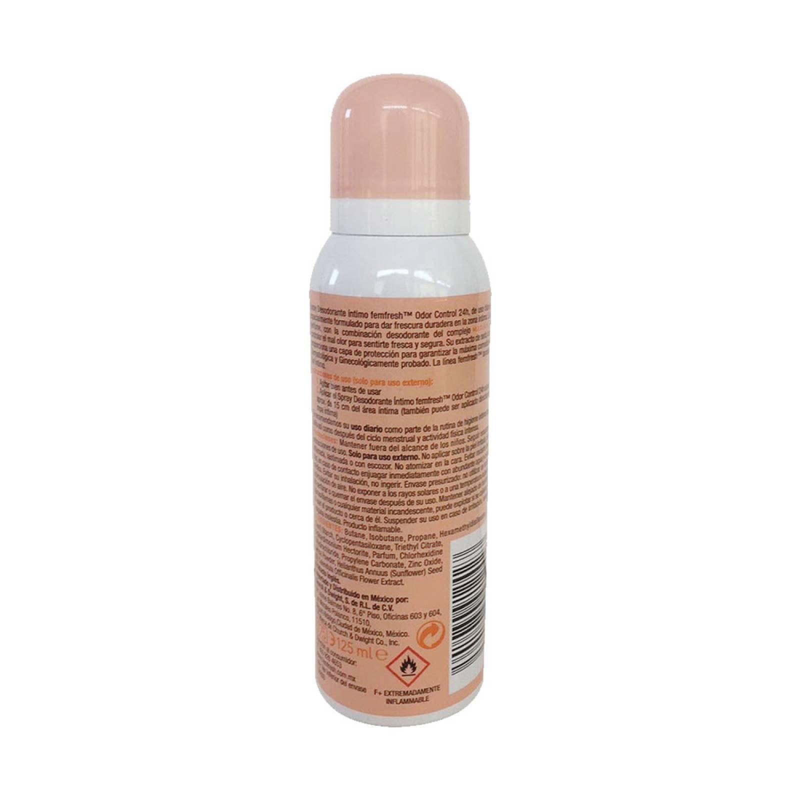 Higiene Íntima Femenina Spray Desodorante 125 ml Femfresh