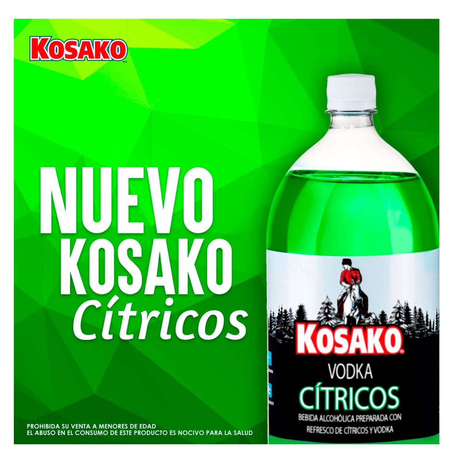 Bebida Vodka Cítricos 2 lts Kosako