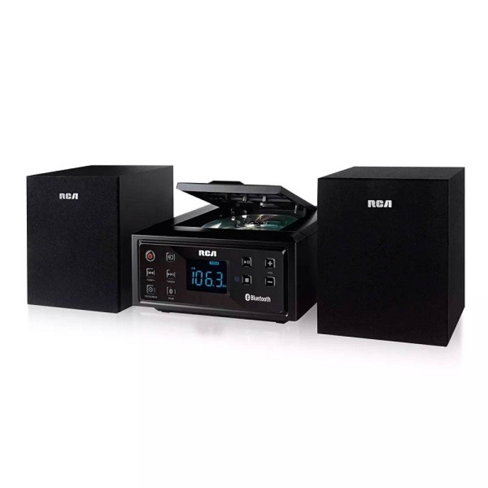 Mini componente Negro RCA Radio Bluetooth USB RS2929B - Reacondicionado