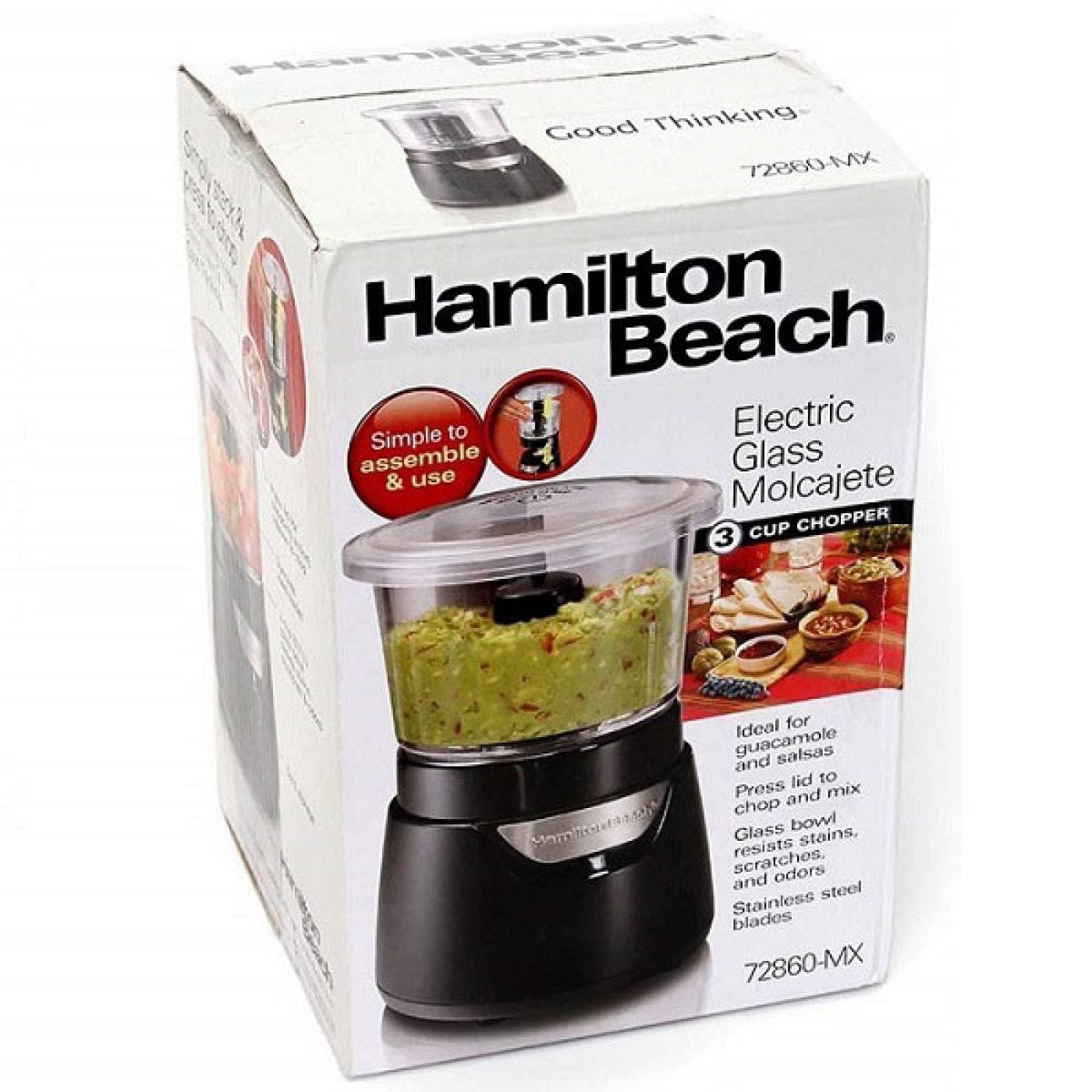 Molcajete electrico Hamilton Beach 3 tazas 72860-MX