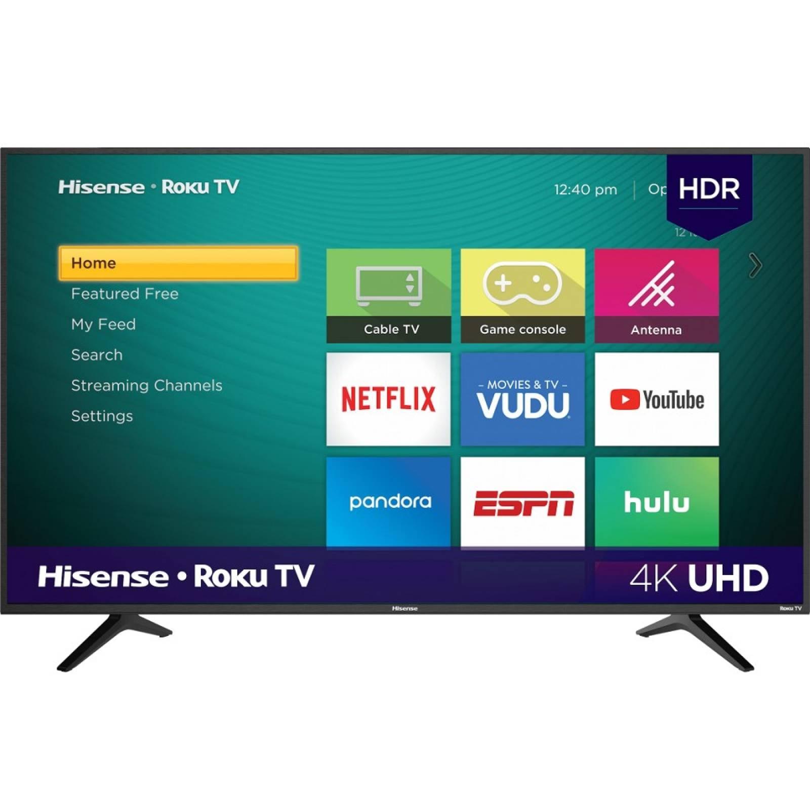 Smart TV 58 Hisense LED Roku TV HDMI 4K upscaler 58R6E - Reacondiciona