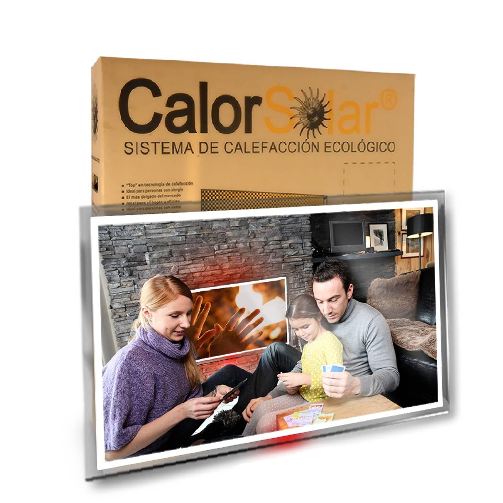 Calefactor de Panel infrarrojo en Cristal para Pared, California Wave Angeles de guarda de 380W 60x90cm, Mod: 093CaSol
