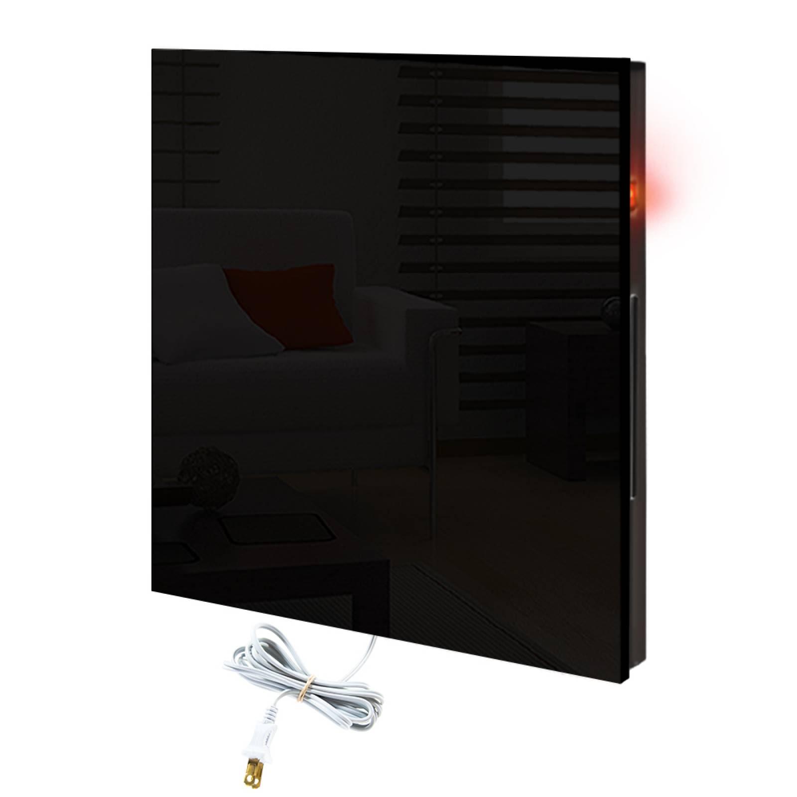 Calefactor de Panel infrarrojo en Cristal para Pared, Miami Wave Black Devil de 380W 60x60cm, Mod: 342CaSol-N