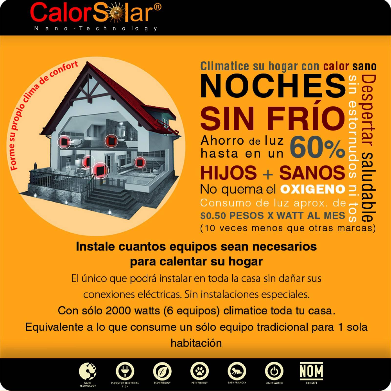 Calefactor de Panel infrarrojo en Cristal Vertical para Pared, Miami Wave Black Devil de 550W 60x90cm, Mod: 343CaSol-N3v