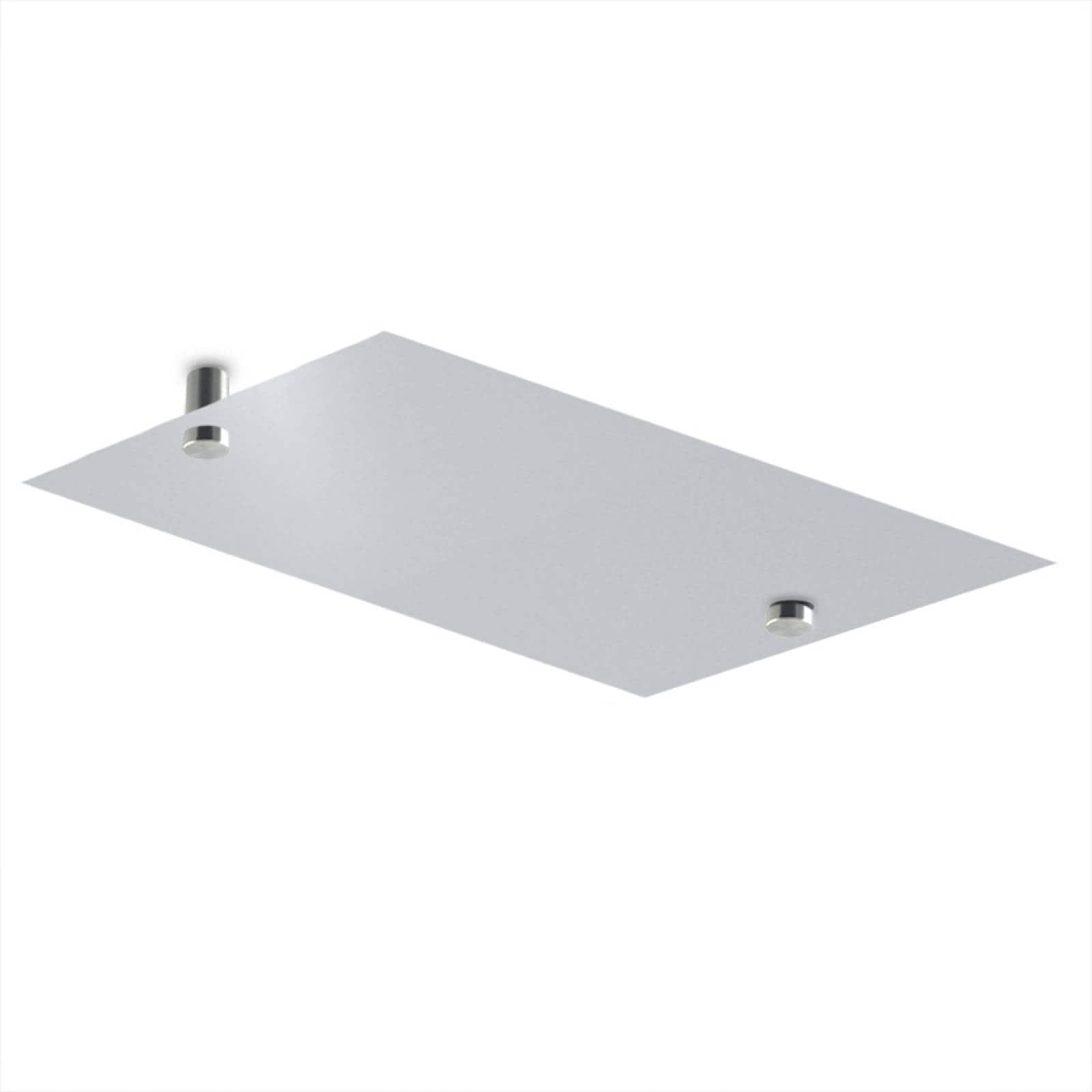 Calefactor de Panel infrarrojo en Aluminio para Techo, Ontario Wave White Cloud de 165W 59x29cm, Mod: 380CaSol-TB