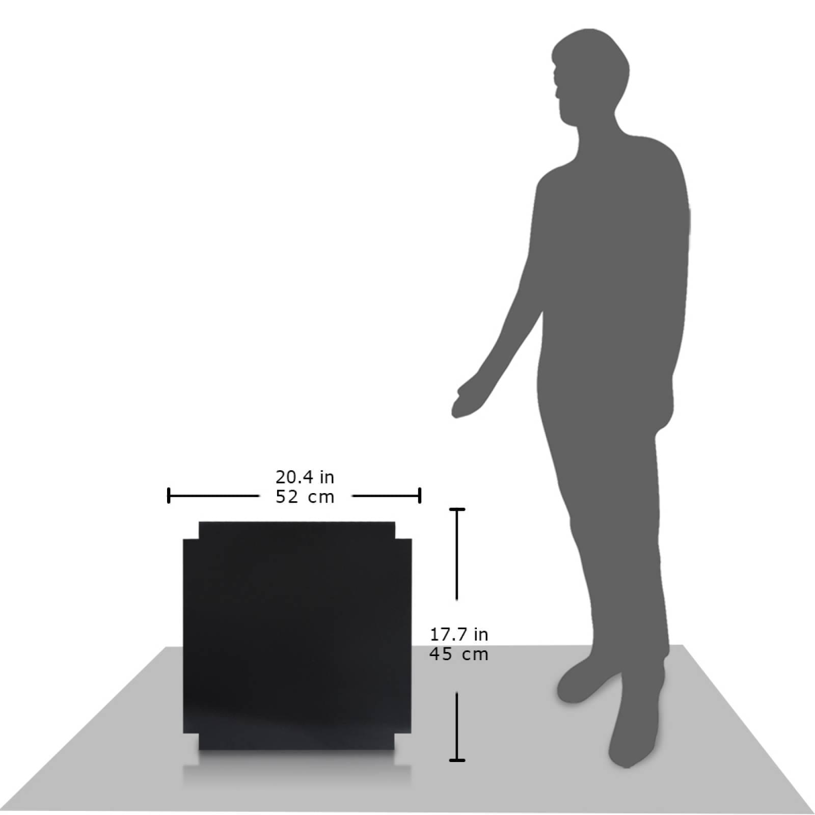 Aislante Cerámico Protector Térmico para Pared de 52 x 45 cm Negro, Mod: 4PTPNe