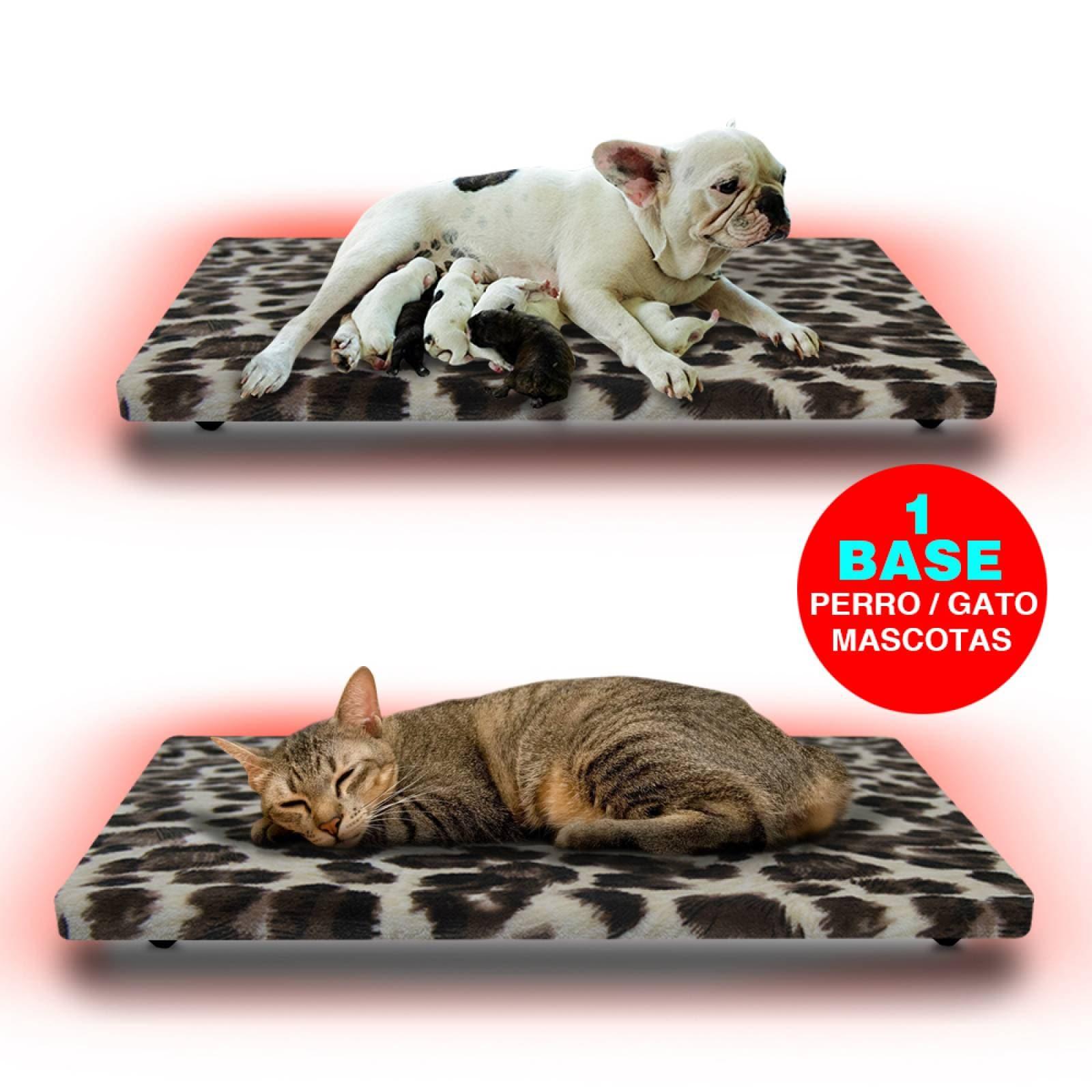 Cama Calefaccionada para Gatos y Mascotas, Pet Wave Pet Lover Black Leopard de 32/48ºC 38/76W 50x40cm, Mod: 2CSPLBL