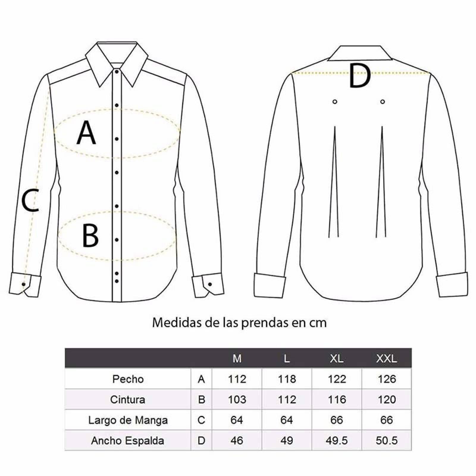 Camisa de vestir casual formal Gris Hombre M