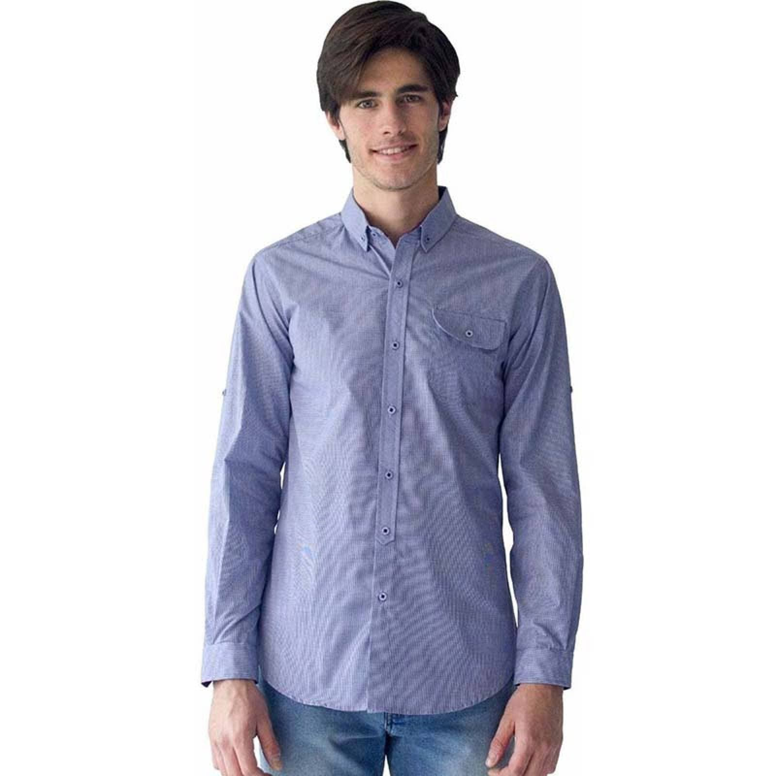 Camisa de vestir casual Azul Marino M