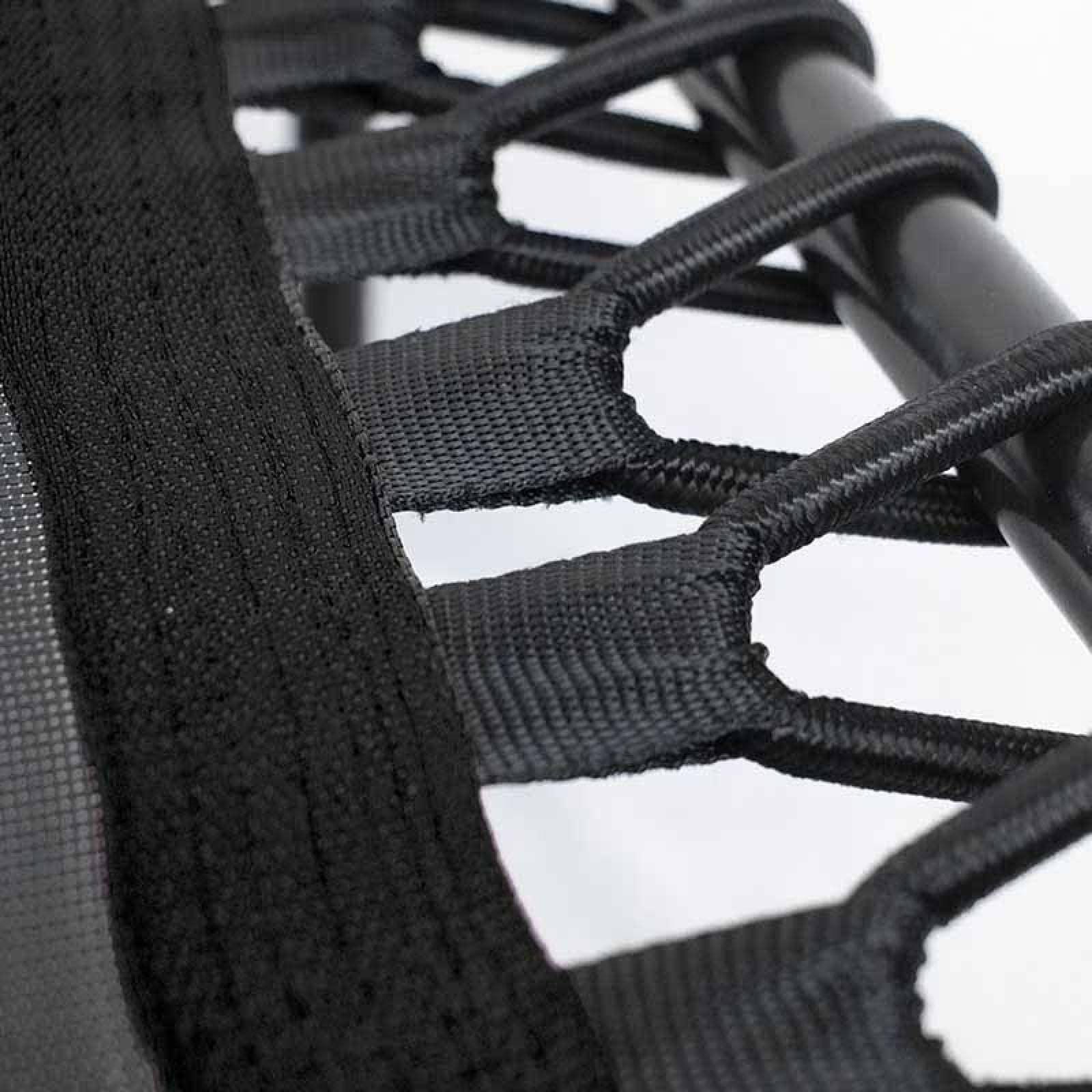 "Trampolin Hexagonal 50"" Barra Ejercicio 150KG Fitness Ejercicio Agarradera Gym Aerobics Negro"