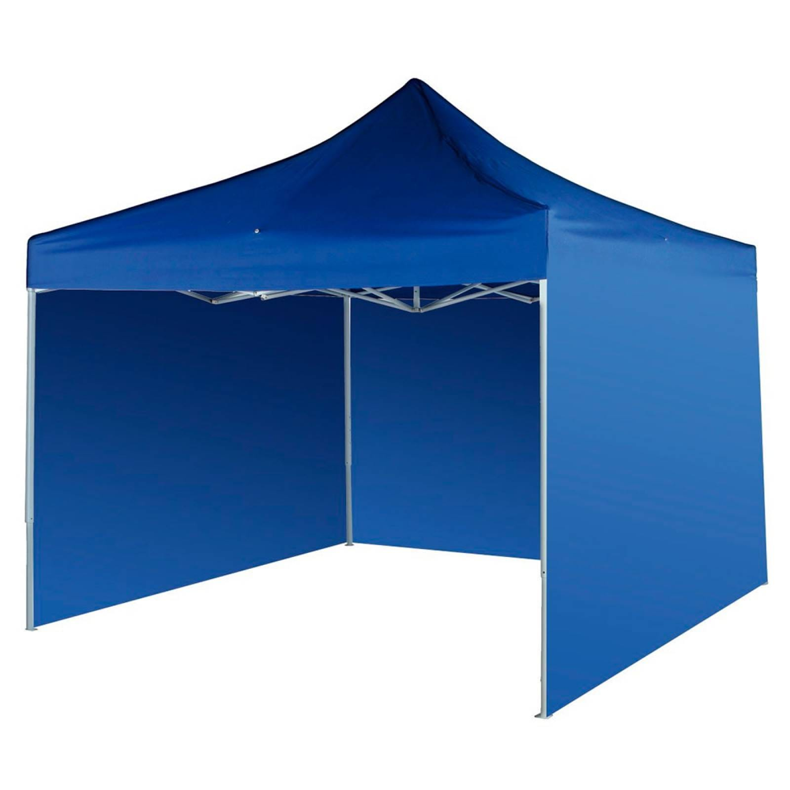 Carpa 3x3 Toldo Plegable Reforzado Impermeable  Lona Azul Jardin Exterior
