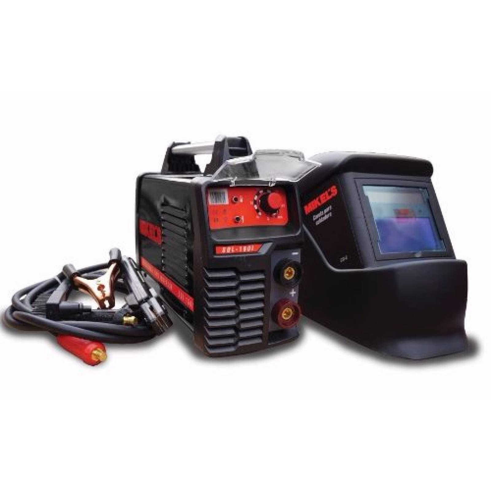 Kit Soldadora Tipo Inversor 160 Amperes + Careta + Cables Mikels
