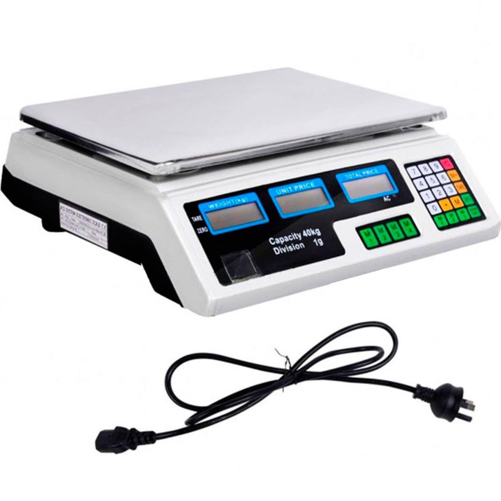 Bascula Digital Electronica 40 Kg Cocina Comercio Negocio Peso