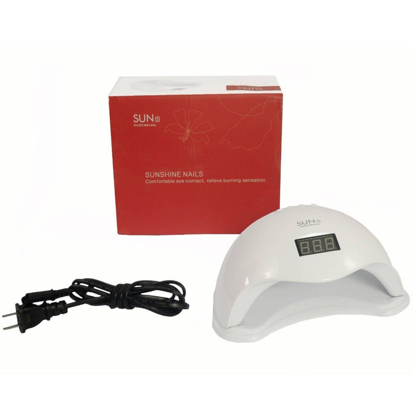Lampara Uv Uñas Profesional Digital Gelish Spa 48 Watts Led