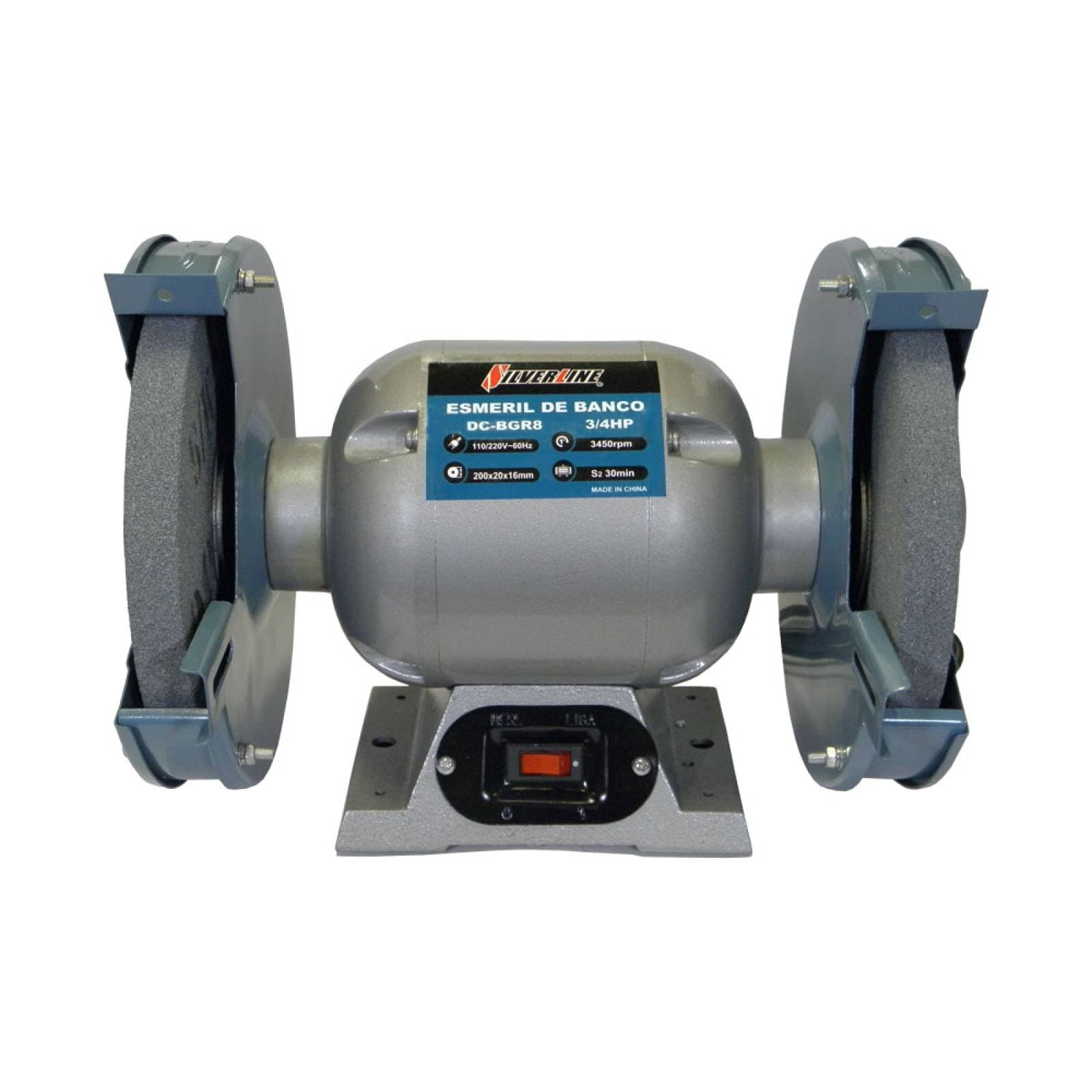 Esmeril Banco 8 Pulgadas Motor 3/4 Hp 1 Fase Silverline