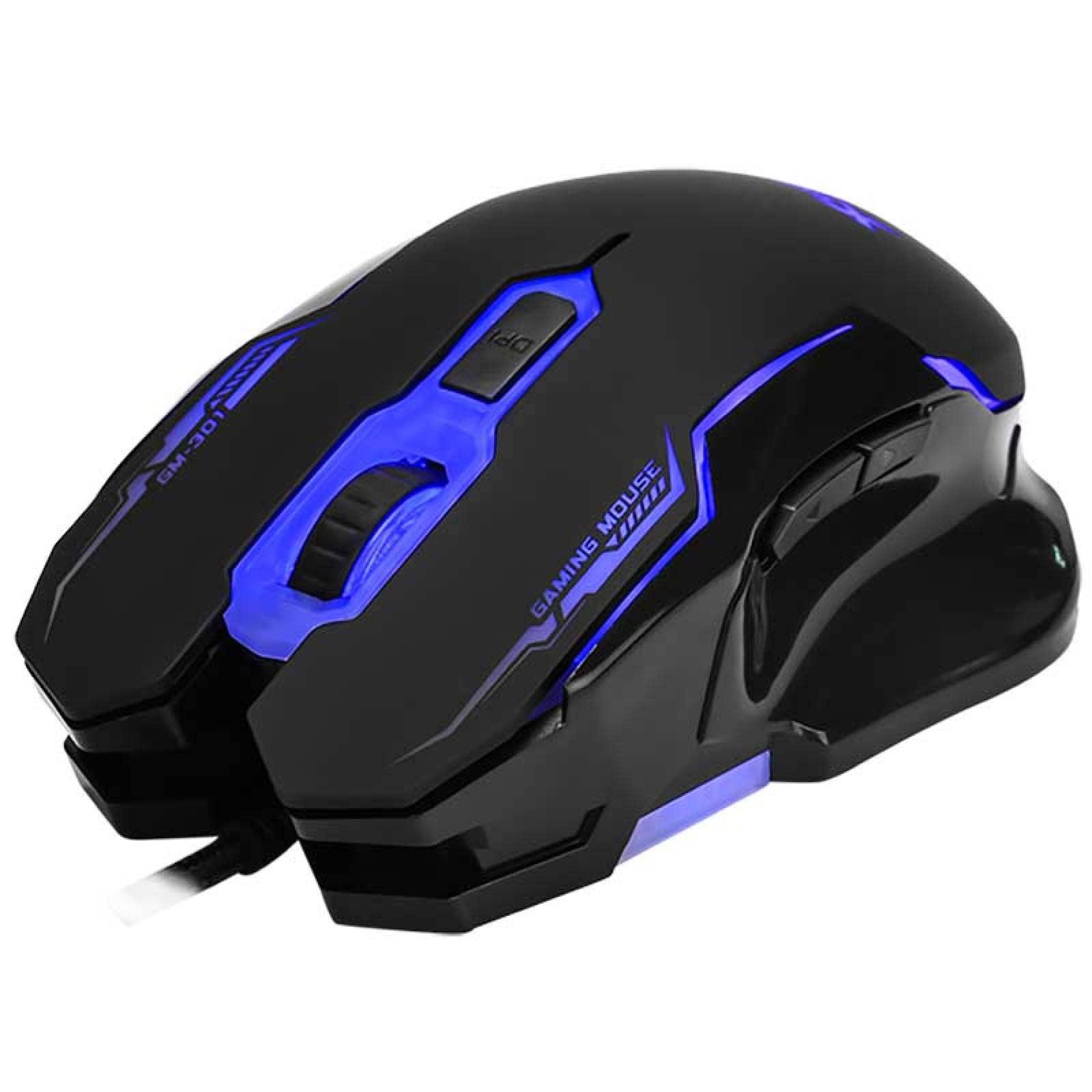 Mouse Gamer Xtrikeme Retroiluminado 2400Dpi 6 Botones Gaming Pc eSports