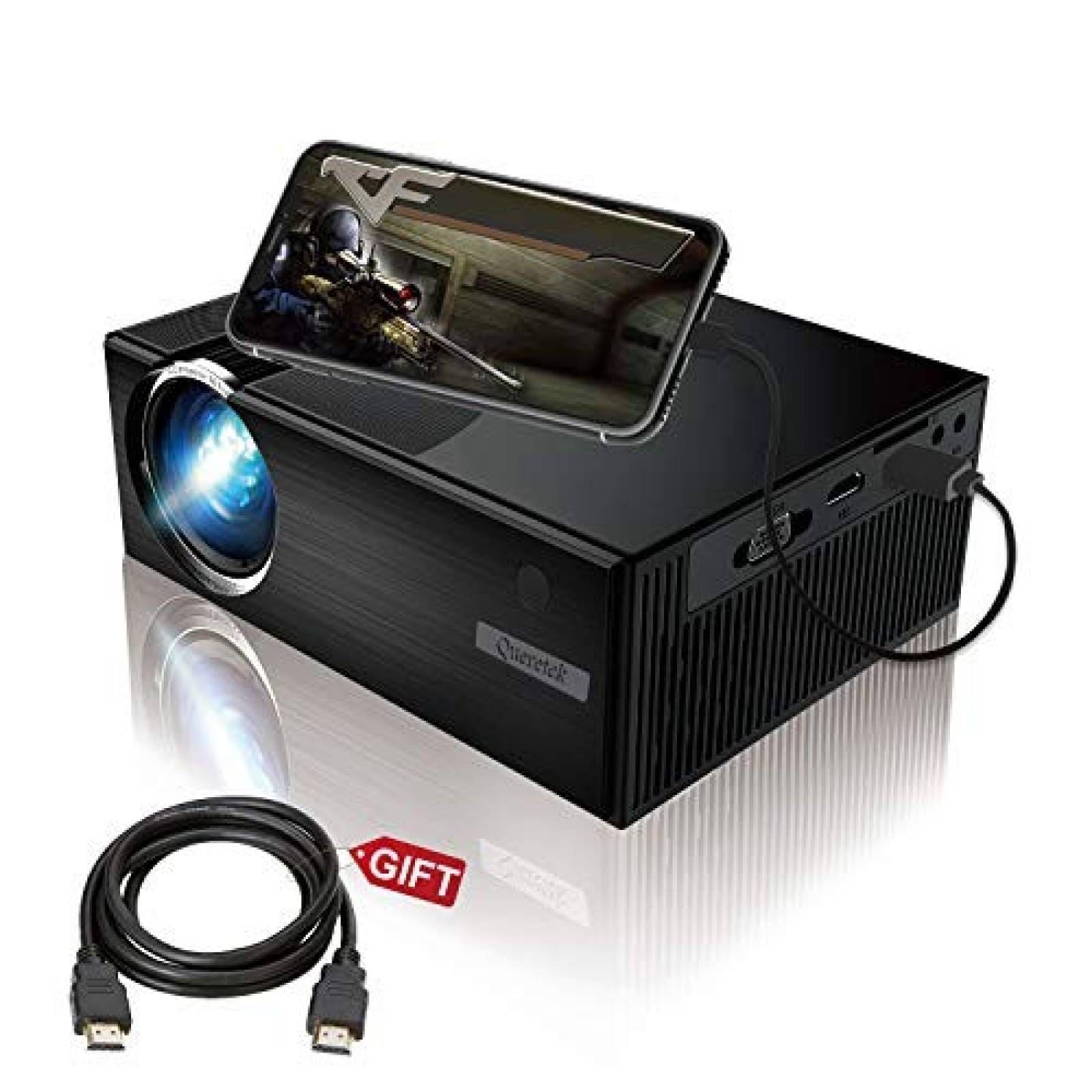 Videoproyector Queretek HD 1080P 2800 Lux -negro