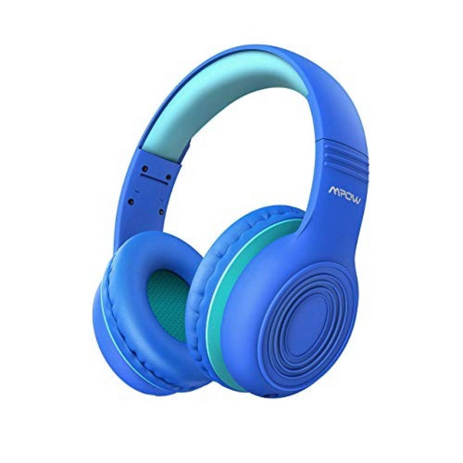 Audífonos diadema plegables Mpow para niños con mic -azul