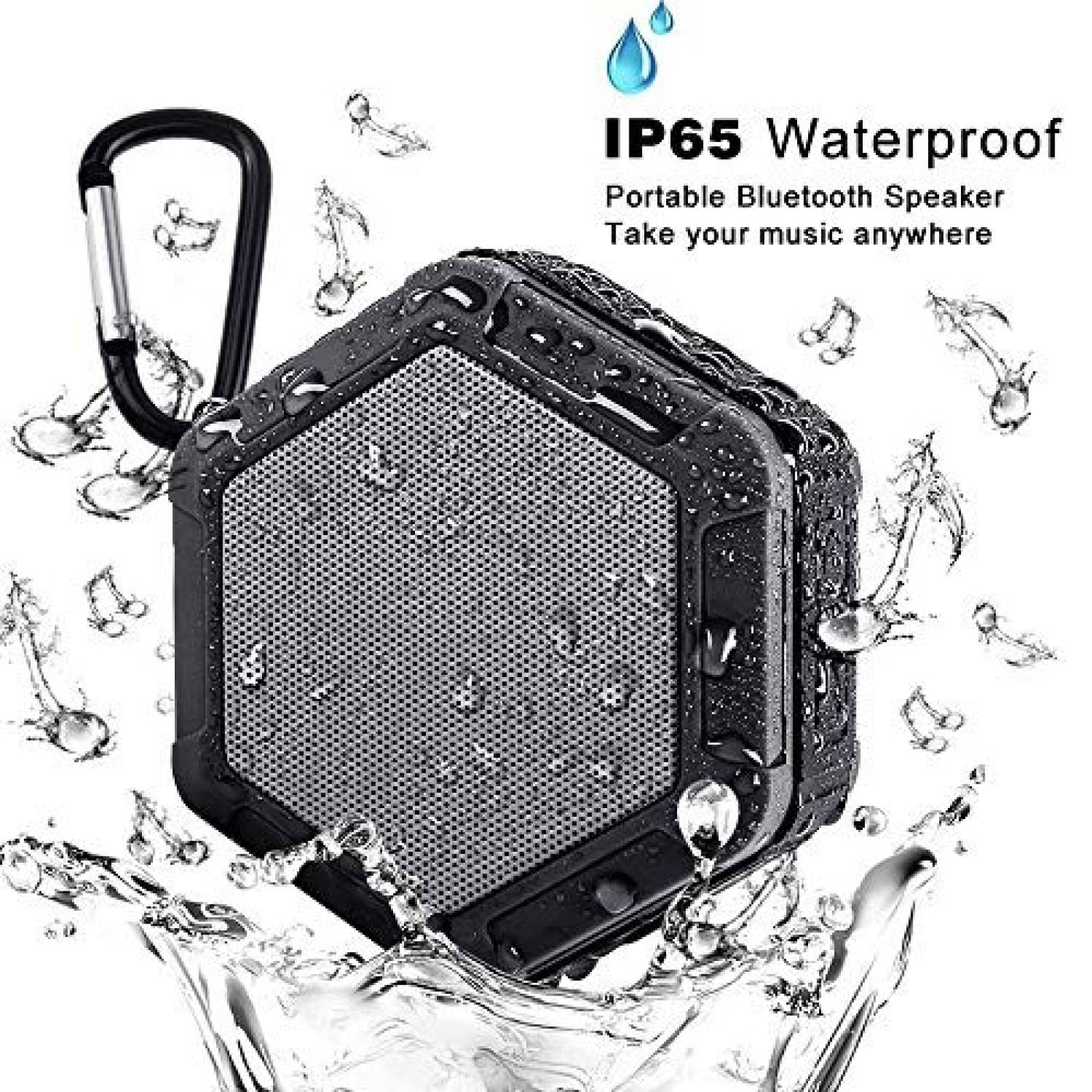 Bocina Bluetooth portáti iMacros impermeable -negro