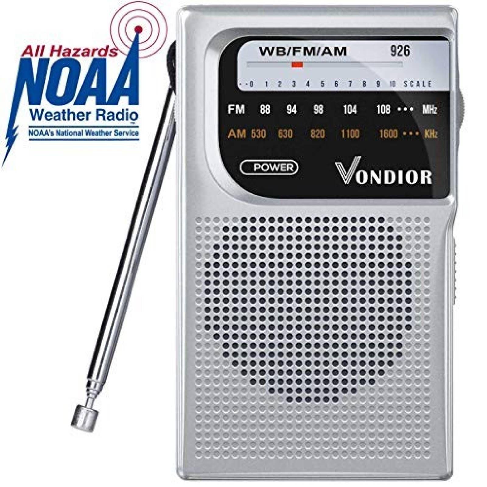 Radio portátil de bolsillo Vondior AM FM -plateado
