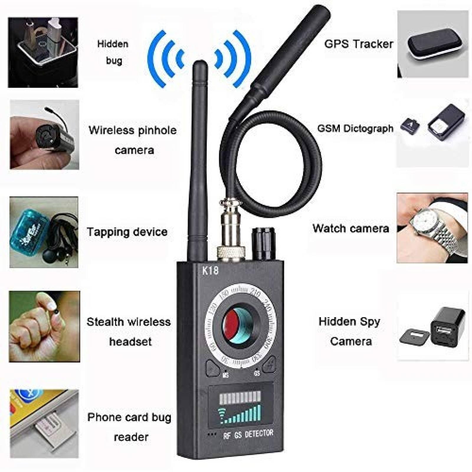 Detector de cámara espía PWREX Buscador de dispositivos GSM