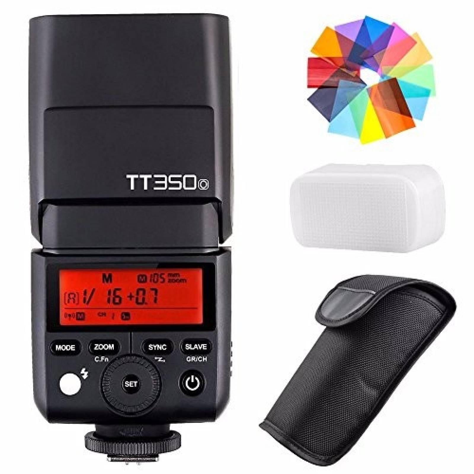 Speedlite Flash Godox TT350O 2.4G HSS 1/8000s para cámara