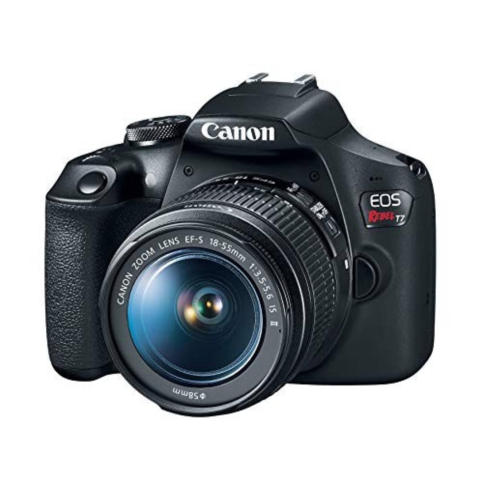 Cámara Canon EOS Rebel T7 18-55mm f -Negro