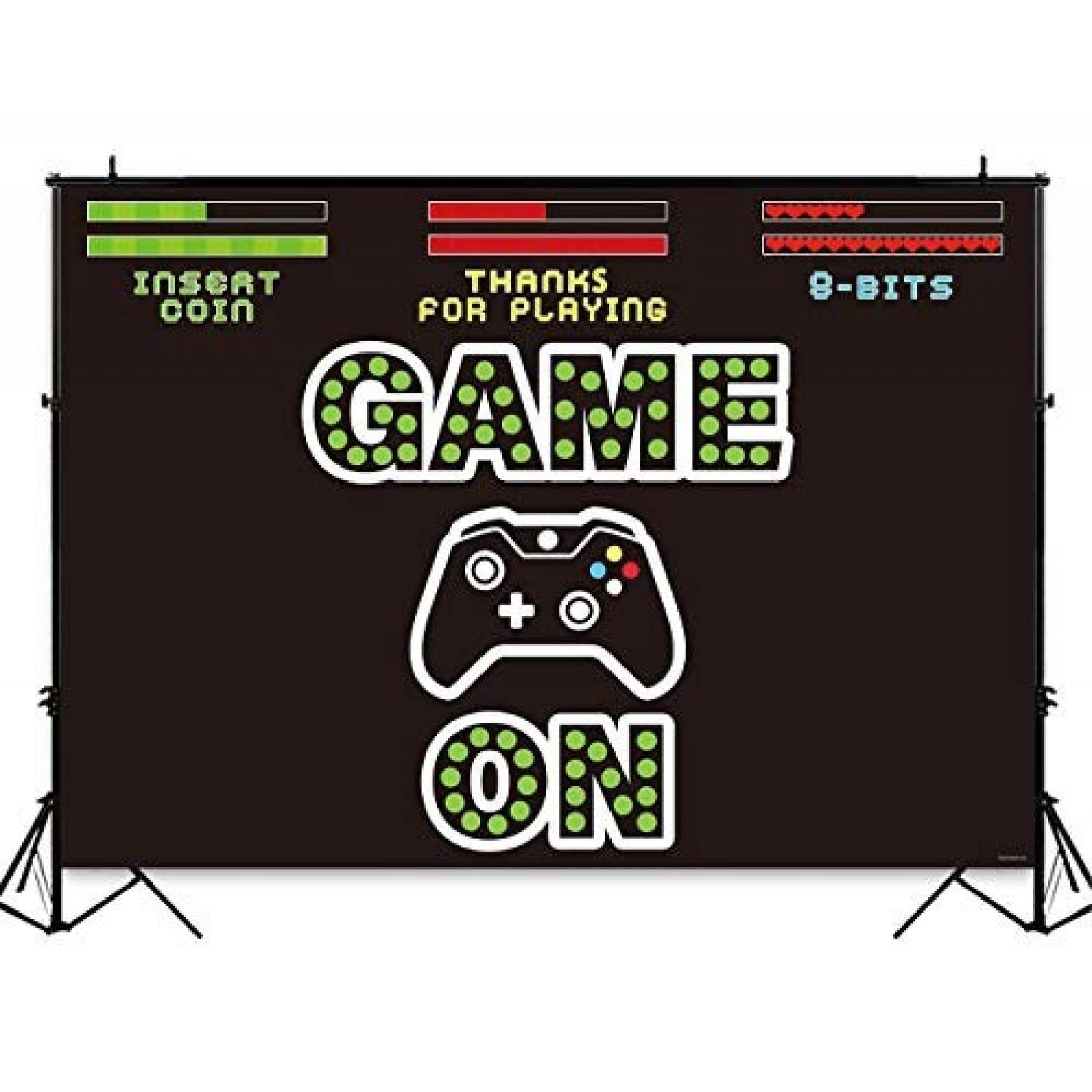 Fondo para eventos Funnytree control de videojuegos -negro